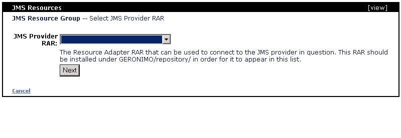 Configuring JMS