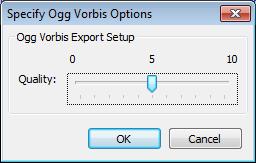 Ogg Vorbis Export Options - Audacity Manual