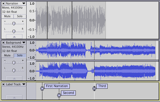 Tutorial - Mixing a Narration With Background Music - Audacity Manual