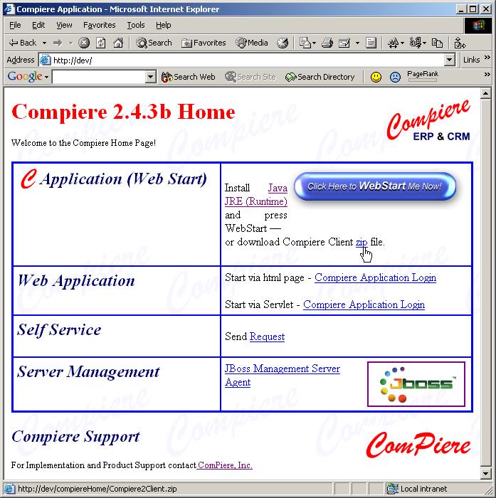 Compiere Client Installation
