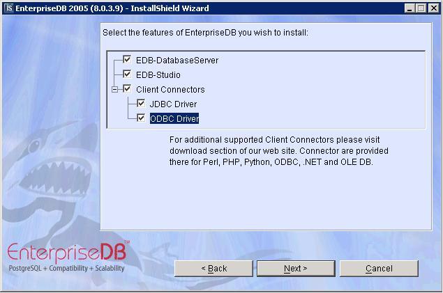 EDB Connector/ODBC