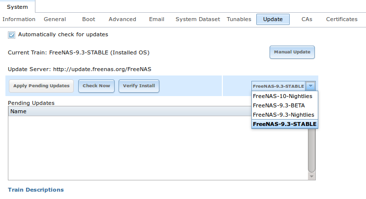5  System — FreeNAS User Guide 9 3 Table of Contents