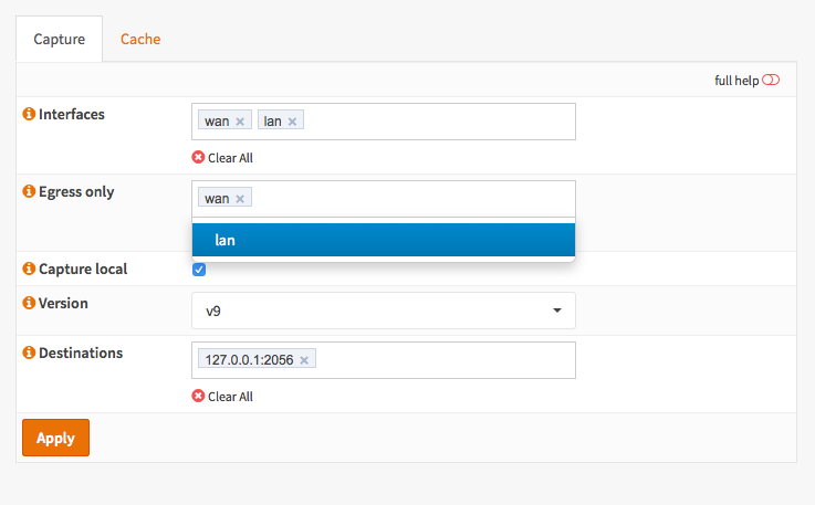 Configure Netflow Exporter — OPNsense Wiki & Documentation