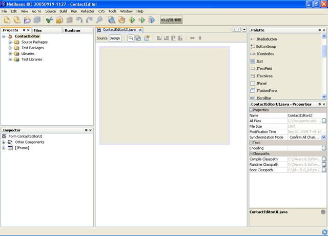 GUI Building in NetBeans IDE
