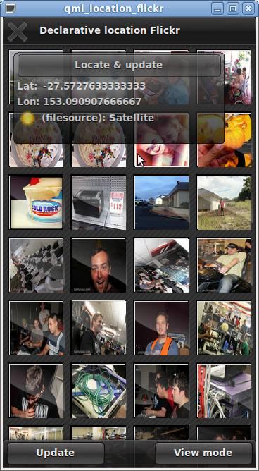 Flickr (QML)   Qt Positioning 5 4