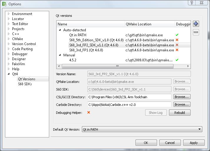 Qt Version Management