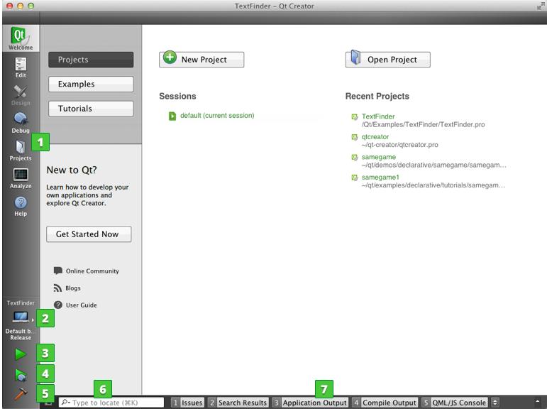 User Interface   Qt Creator Manual