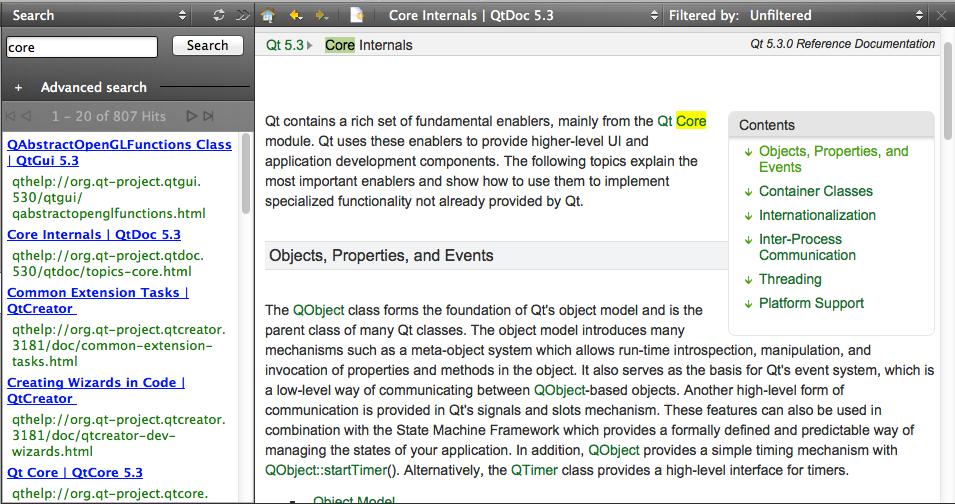 Using the Help Mode | Qt Creator Manual
