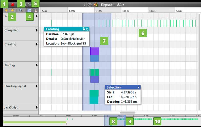 Profiling QML Applications   Qt Creator Manual
