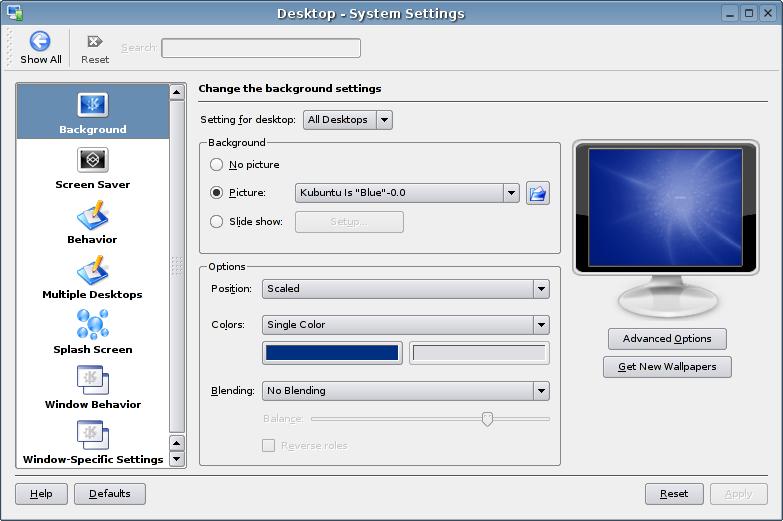 Kubuntu System Settings
