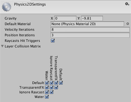 Unity - Physics 2D Manager
