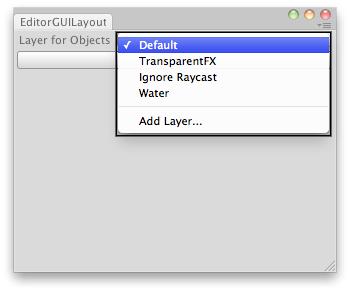 Unity - Scripting API: EditorGUILayout LayerField