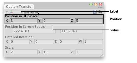 Unity - Scripting API: EditorGUI Vector3Field