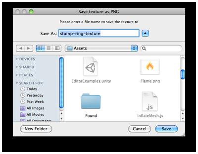 Unity - Scripting API: EditorUtility SaveFilePanelInProject