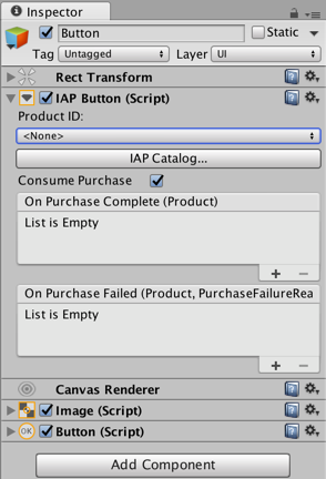 Unity - Manual: Codeless IAP