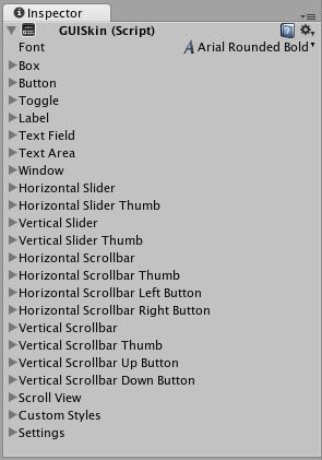 Unity - Manual: GUI Skin (IMGUI System)