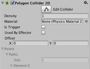 Unity - Manual: Polygon Collider 2D