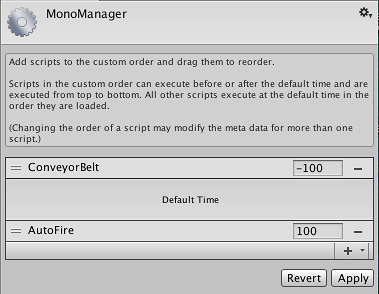 Unity - Manual: Script Execution Order Settings