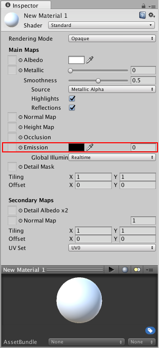 Unity - Manual: Emission