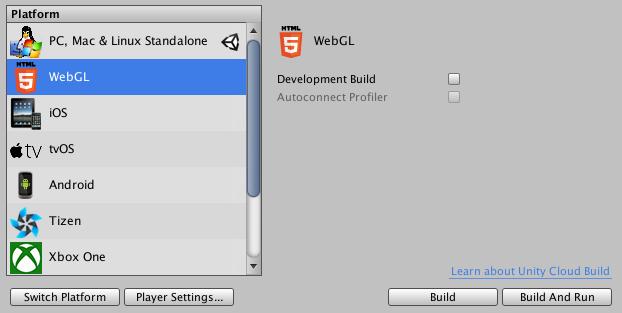 Unity - Manual: Building and running a WebGL project*