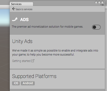 Unity - Manual: How to use Unity Ads