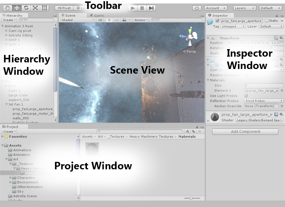 Unity - Manual: Learning the interface