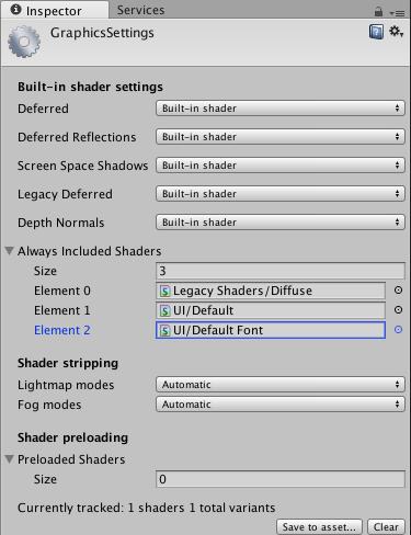Unity - Manual: [BETA*] Graphics Settings