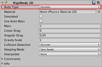 Unity - Manual: Rigidbody 2D